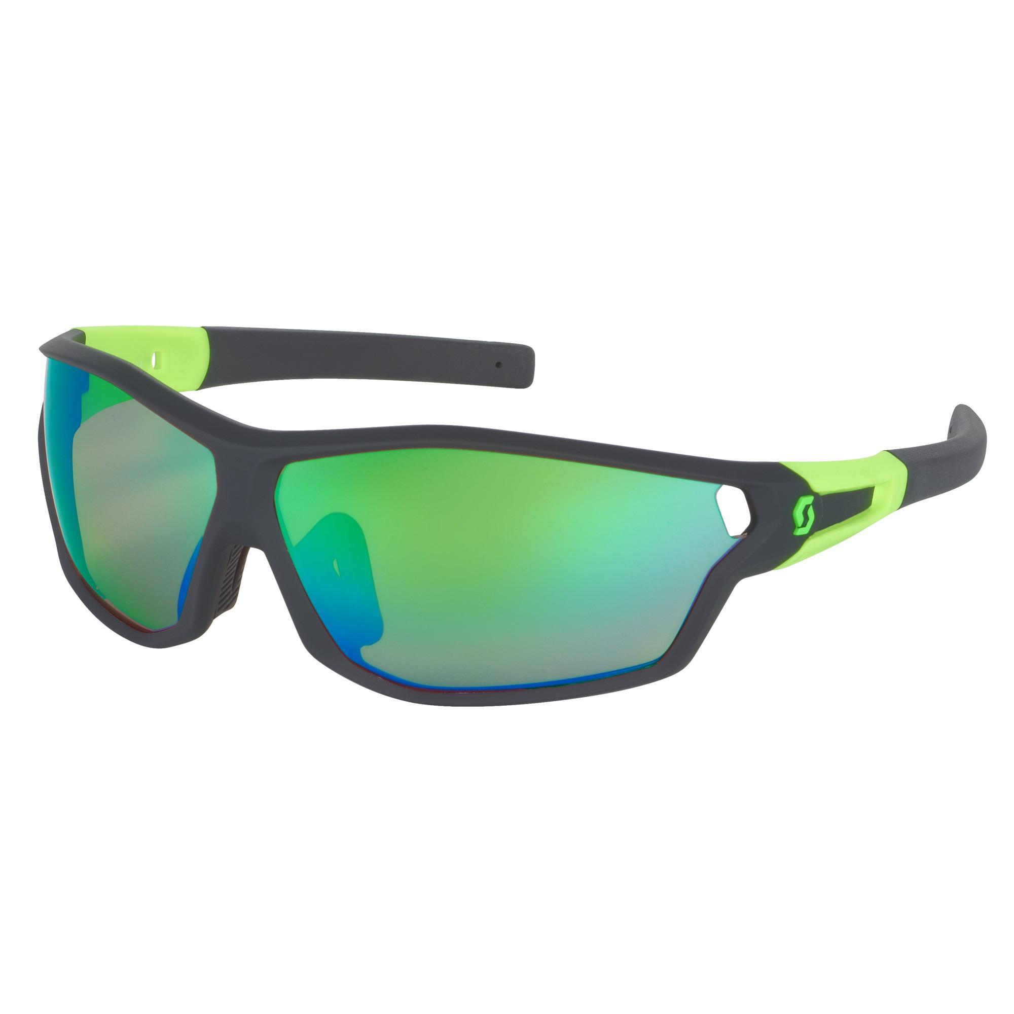 Очки SCOTT Leap Full Frame Black matt neon green Линзы  chrome amplifier ee611799c7f33